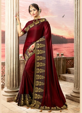 Maroon Wedding Designer Traditional Saree
