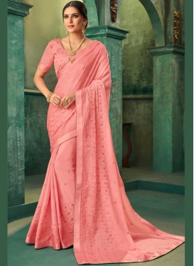 Marvelous Zari Faux Georgette Traditional Saree