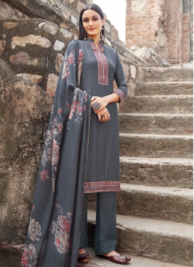 Maslin Embroidered Work Pant Style Pakistani Salwar Kameez