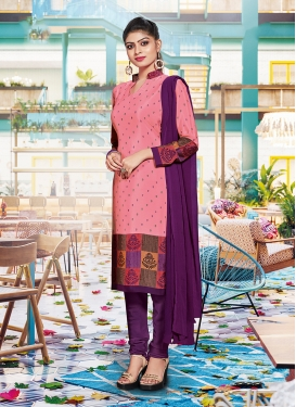 Masterly Crepe Silk Churidar Suit