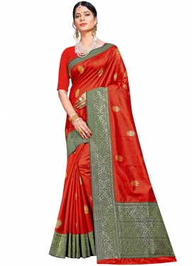 Masterly Red Designer Traditional Saree