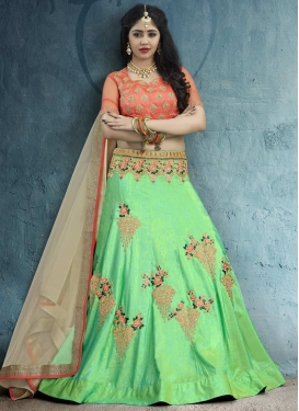 Mint Green and Salmon Designer Lehenga Choli For Festival