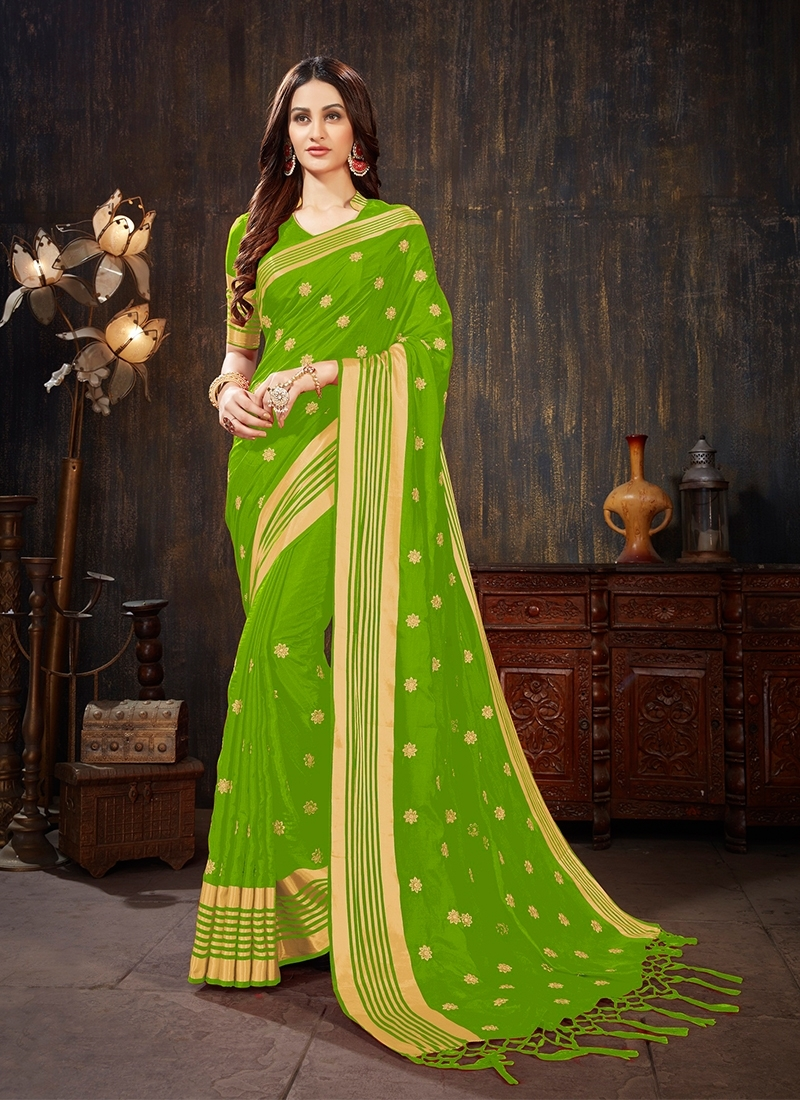 Mint Green Party Silk Saree