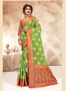 Mint Green Weaving Designer Traditional Saree