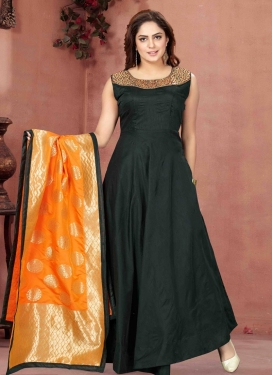 Mirror Work Readymade Long Length Gown