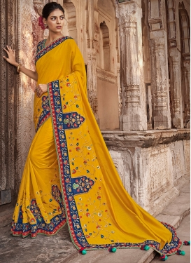 Mod Art Silk Wedding Traditional Saree