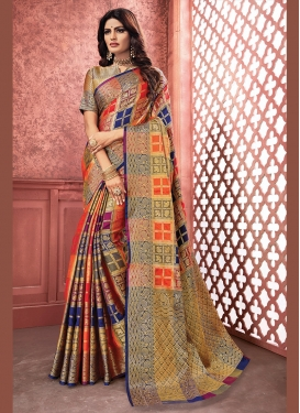 Mod Multi Colour Weaving Art Silk Traditional Saree