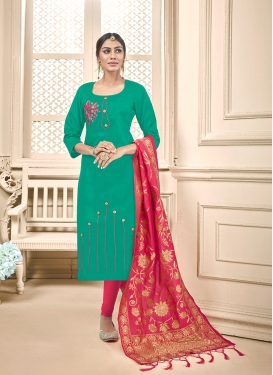 Modernistic Embroidered Casual Churidar Salwar Kameez
