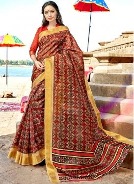 Modernistic Printed Traditional Saree