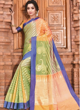 Modernistic Weaving Art Silk Traditional Designer Saree