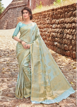 Modernistic Weaving Jacquard Silk Traditional Designer Saree