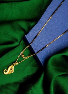 Modest Alloy Beads Work Mangalsutra For Festival