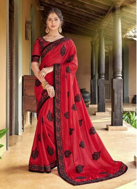 Modest Red Ceremonial Saree
