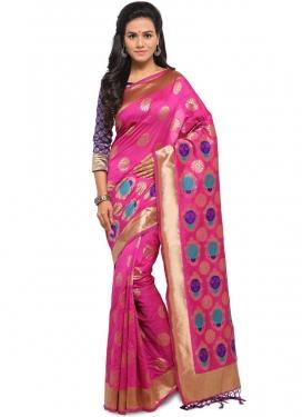 Modest Weaving Art Silk Designer Traditional Saree