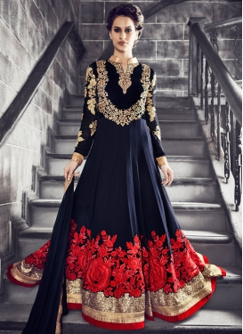 Modish Sequins And Stone Work Floor Length Wedding Salwar Suit