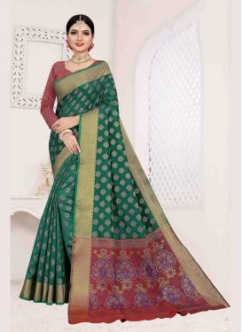 Monumental Art Silk Designer Traditional Saree