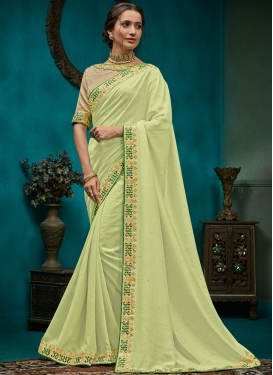 Monumental Embroidered Poly Silk Traditional Designer Saree