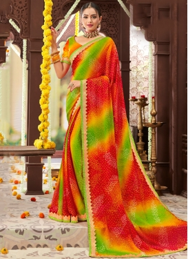 Multi Colour Color Trendy Saree
