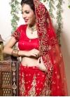 Mystic Net Red Resham Designer Lehenga Choli - 1