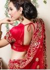 Mystic Net Red Resham Designer Lehenga Choli - 2