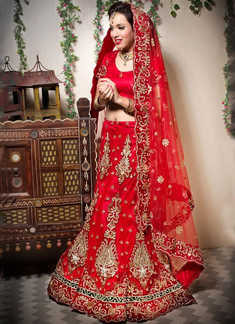 Mystic Net Red Resham Designer Lehenga Choli