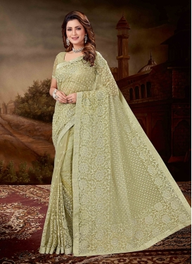 Mystic Olive Reception Designer Saree