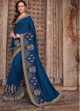 Mystical Patch Border Art Silk Designer Traditional Saree