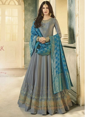 Nargis Fakhri Silk Georgette Trendy Anarkali Salwar Kameez