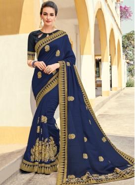 Navy Blue Ceremonial Designer Traditional Saree