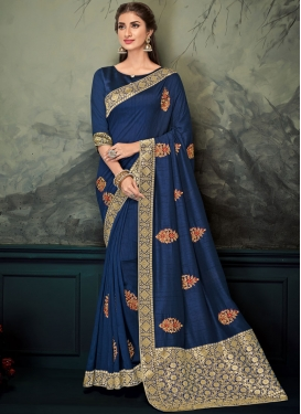 Navy Blue Wedding Classic Saree