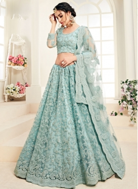 Net A Line Lehenga Choli For Bridal