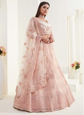 Net A Line Lehenga Choli For Bridal