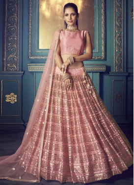 Net A Line Lehenga Choli For Festival