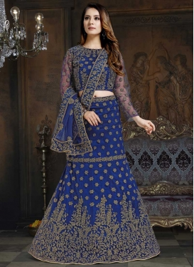 Net A - Line Lehenga For Ceremonial