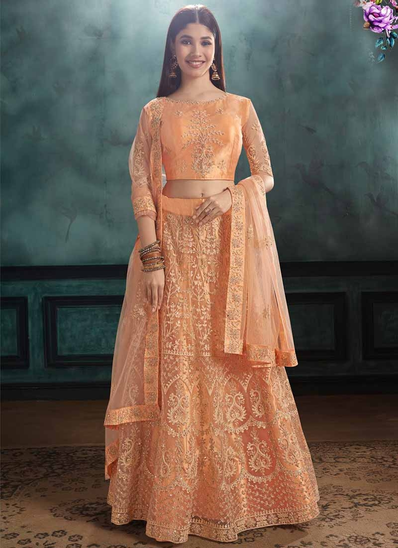 Net A - Line Lehenga For Festival