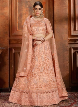 Net Beads Work A - Line Lehenga