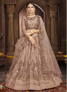 Net Beads Work Layered Designer Lehenga Choli