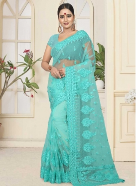 Net Beads Work Traditional Designer Saree