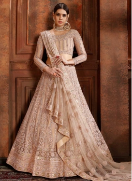 Net Beads Work Trendy Lehenga