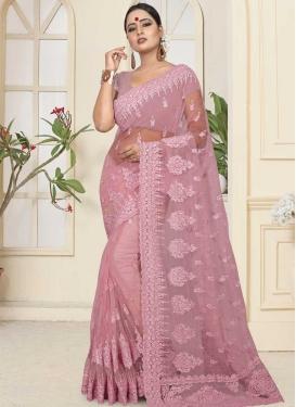 Net Beads Work Trendy Saree