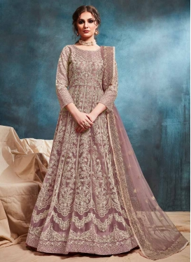 Net Chicken Work Long Length Anarkali Salwar Suit
