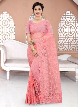 Net Designer Contemporary Style Saree