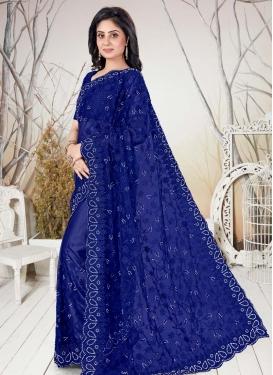 Net Designer Contemporary Style Saree For Ceremonial
