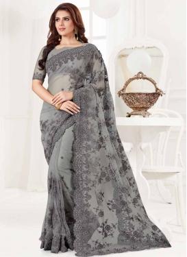 Net Designer Contemporary Style Saree For Festival