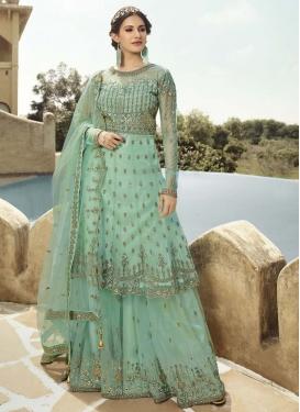 Net Designer Palazzo Salwar Suit