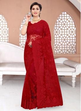 Net Designer Traditional Saree For Ceremonial