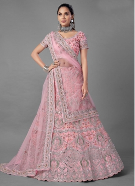 Net Embroidered Work Designer Classic Lehenga Choli