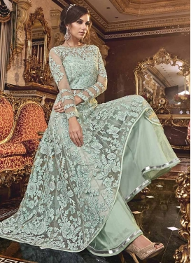Net Embroidered Work Designer Palazzo Salwar Kameez