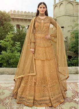 Net Embroidered Work Long Length Designer Anarkali Suit