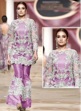 Net Embroidered Work Pant Style Designer Salwar Kameez